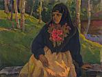 Donna russa - Vasily Belikov - Olio