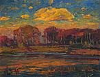 Nuvola rosa - Vasily Belikov - Olio