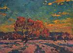 Albero rosa - Vasily Belikov - Olio