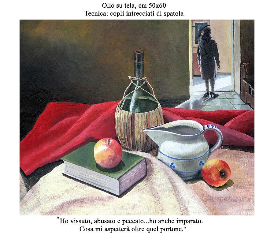 Natura Morta Con Figura - Domenico  Arena - Olio - 2000,00 €