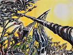 Senza titolo 26 - Lucio Forte - Acrilico, acquerello e china su carta - 95 €