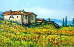 Paesaggio in fiore - Pietro Dell Aversana - Olio - 100 €