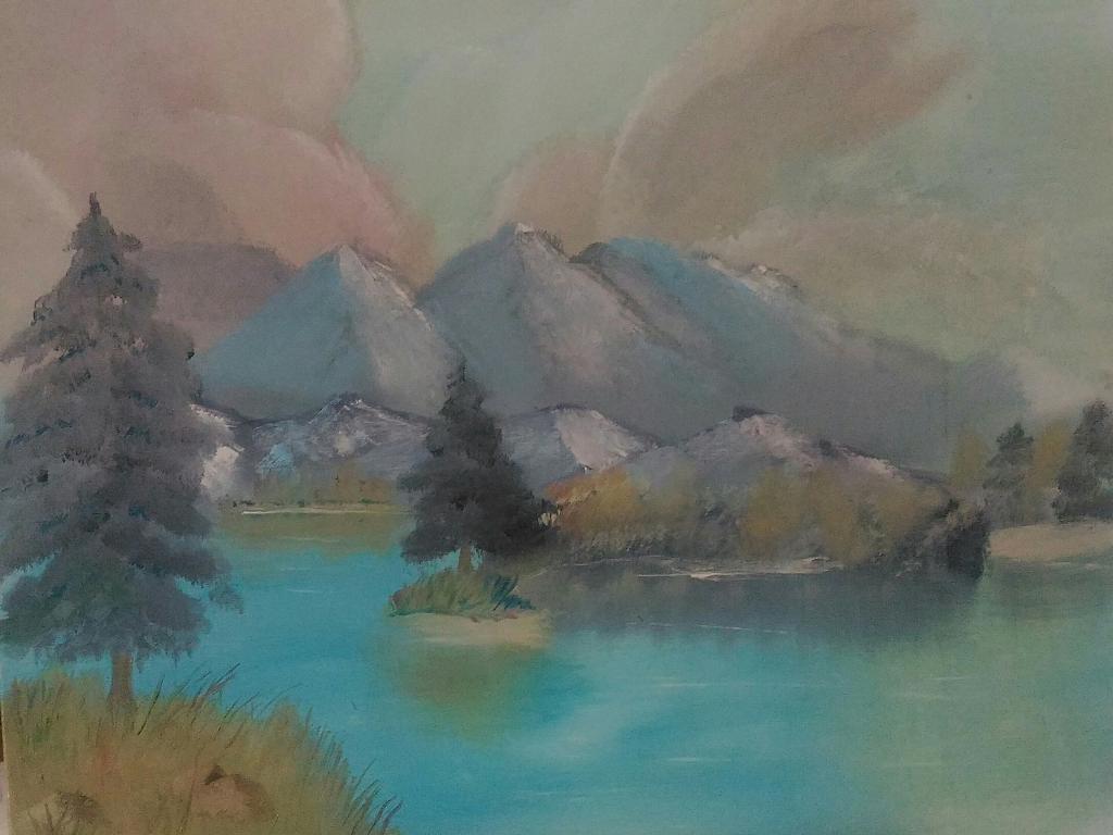 Paesaggio montano - Caterina Martinetto - Olio