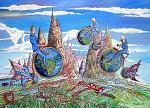 Viaggiatori del tempo - Guido Nardo - Olio