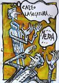 La Segatura - Lucio Forte - china, acquerello ed acrilico su carta - 35€