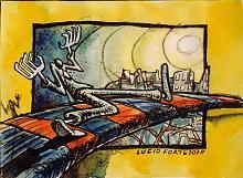 Fschun - Lucio Forte - Acrilico, acquerello e china su carta - 39€