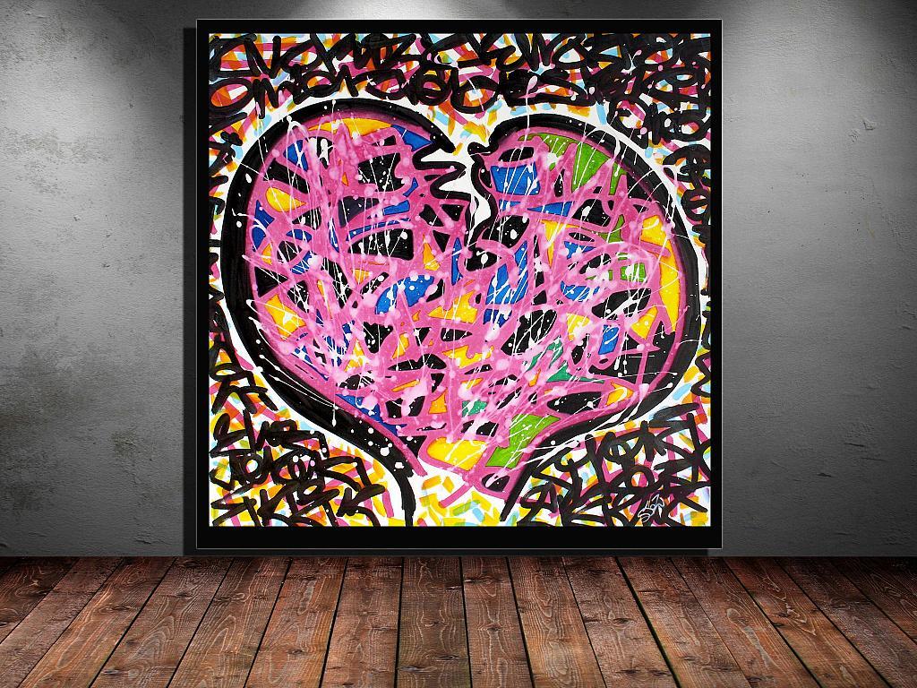 Stoz heart - marco stazzini - Acrilico - 155 €