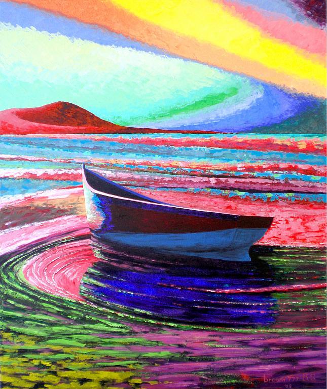 La barca - GRECO Bruno - Acrilico
