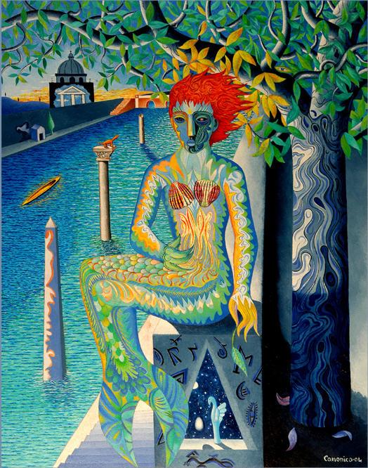 La Sirena del Tevere - Costantino Canonico - Olio - 3500 €