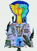 La Pizia Silente - Costantino Canonico - Olio e matite colorate - 1600€