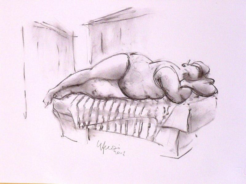 La Venere di Ostuni1 - Guido Ferrari - Carboncino - 280 €