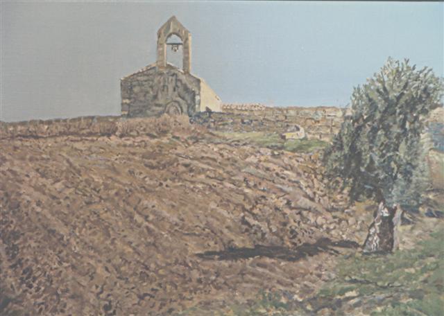 Chiesetta campestre - FAUSTO TRONCI - Olio
