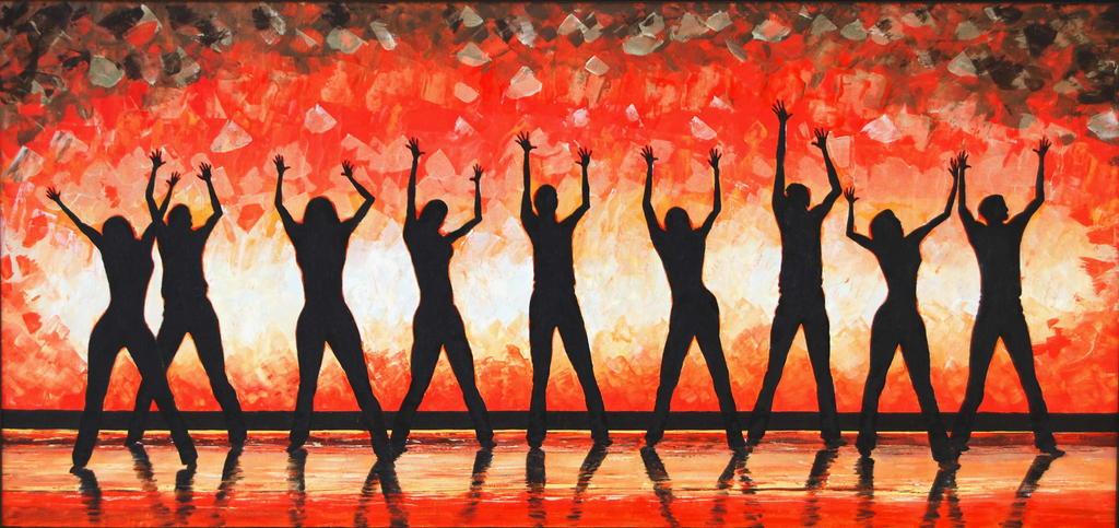 Danza alla gioia - GRECO Bruno - Acrilico