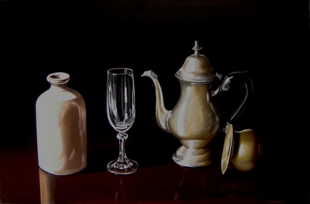 Natura morta con bicchiere vendita quadro pittura artlynow for Vendita bicchieri
