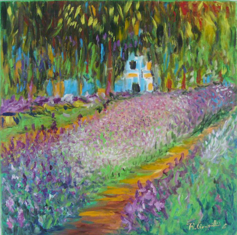 Il giardino di monet vendita quadro pittura artlynow - Il giardino segreto dvd vendita ...