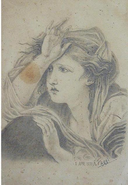 Giovinetta - remo faggi - matita