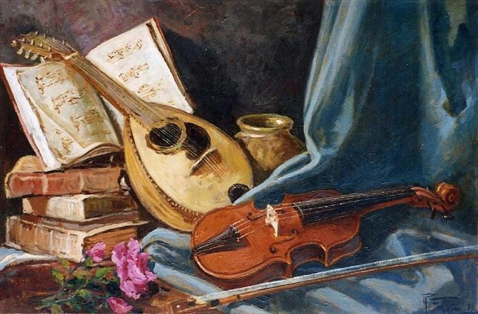 Composizione musicale - remo faggi - Olio
