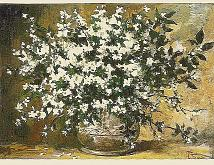 Fiori bianchi - remo faggi - Olio