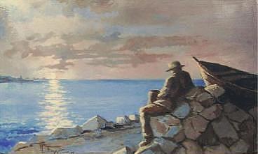 Il vecchio e il mare - remo faggi - Olio