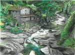 Rifugio nel bosco - silvia diana - China e acquerello - 250€ - Venduto!