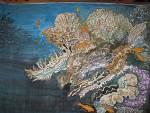 Fra i coralli - silvia diana - Acquerello / studio per pannello ceramico o murale