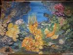 Meraviglie nel blu - silvia diana - Acquerello/ studio per pannello ceramico o murale