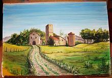 Casale in Maremma - silvia diana - Acquerello - 300€