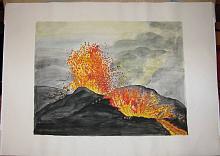 L'ira di Vulcano - silvia diana - Acquerello - 200€