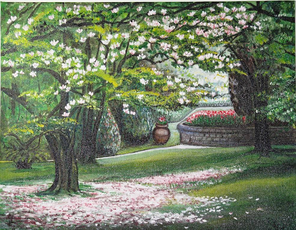 Magnolia in fiore - silvia diana - Acrilico - 200 €