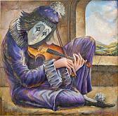 """""""Pierrot"""" - Viktoriya Bubnova - Olio"""