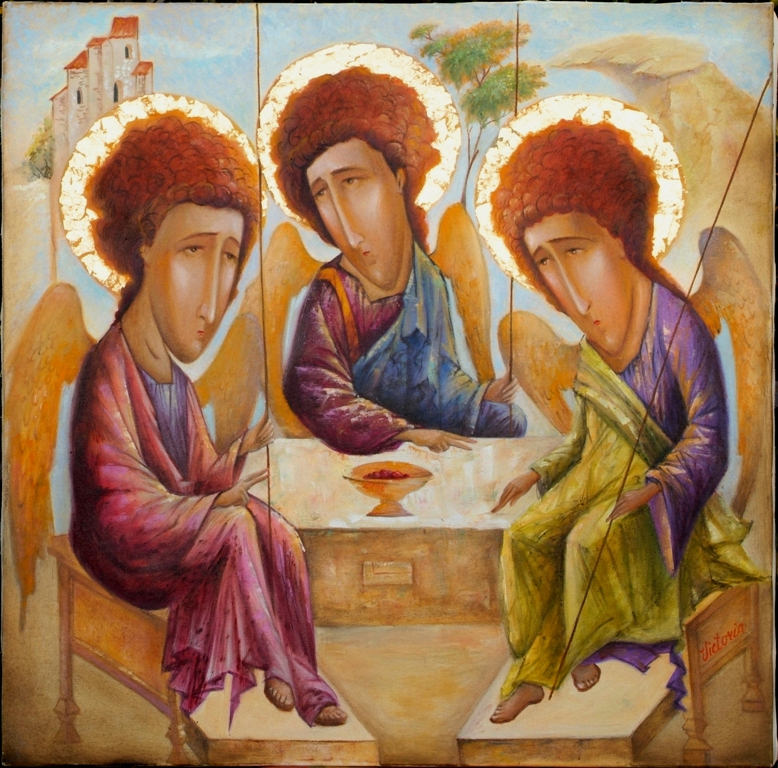 Trinita   dal ciclo Angeli e Santi - Viktoriya Bubnova - Olio - 800 €