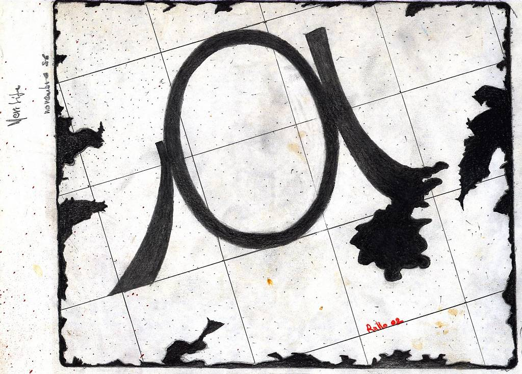 'a' - daniele rallo - grafite - 50 €