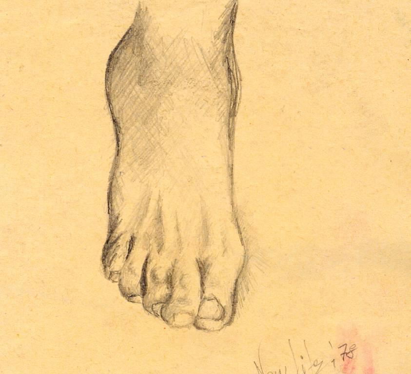 il mio piede destro - daniele Rallo  - matita - 100 €