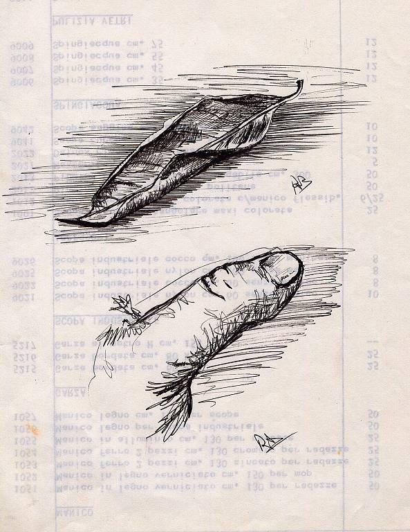dito, foglia - daniele Rallo  - inchiostro - 150 €