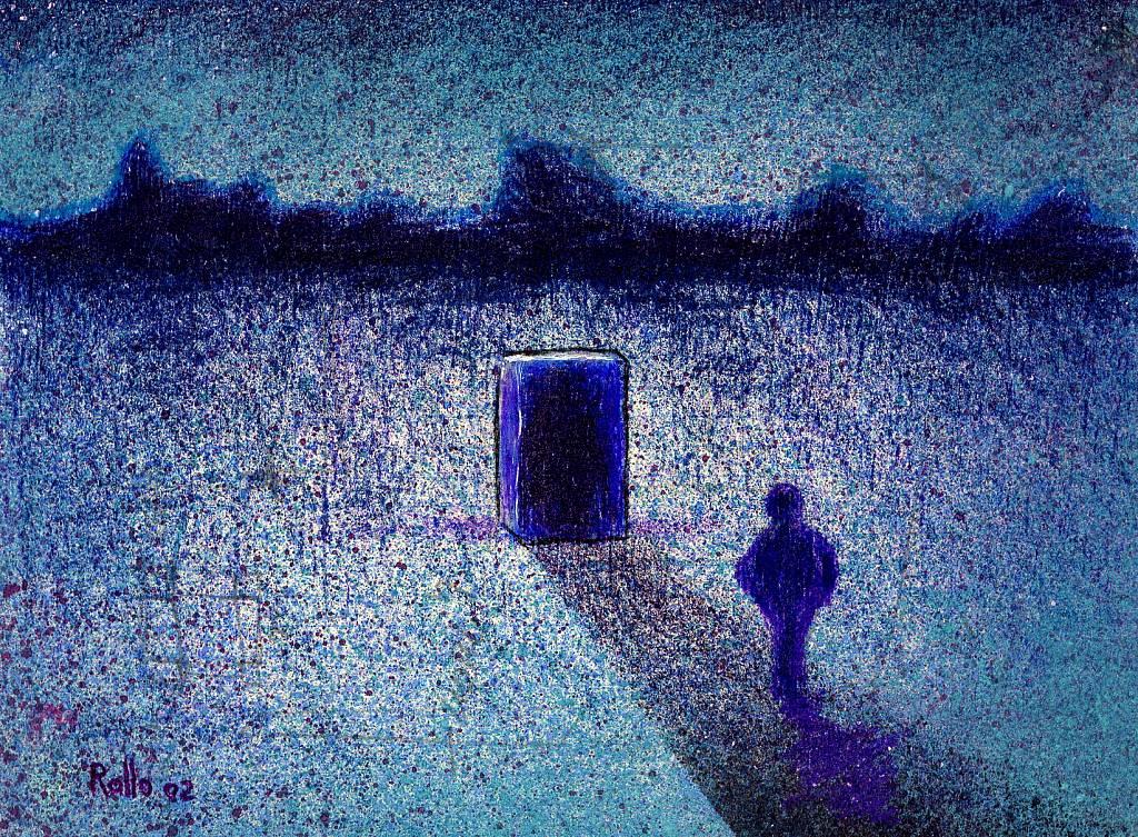 solitudine in blu - daniele Rallo  - tecnica mista - 100 €