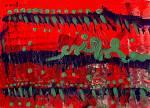 grande tema in rosso - daniele rallo - tecnica mista - 50 euro