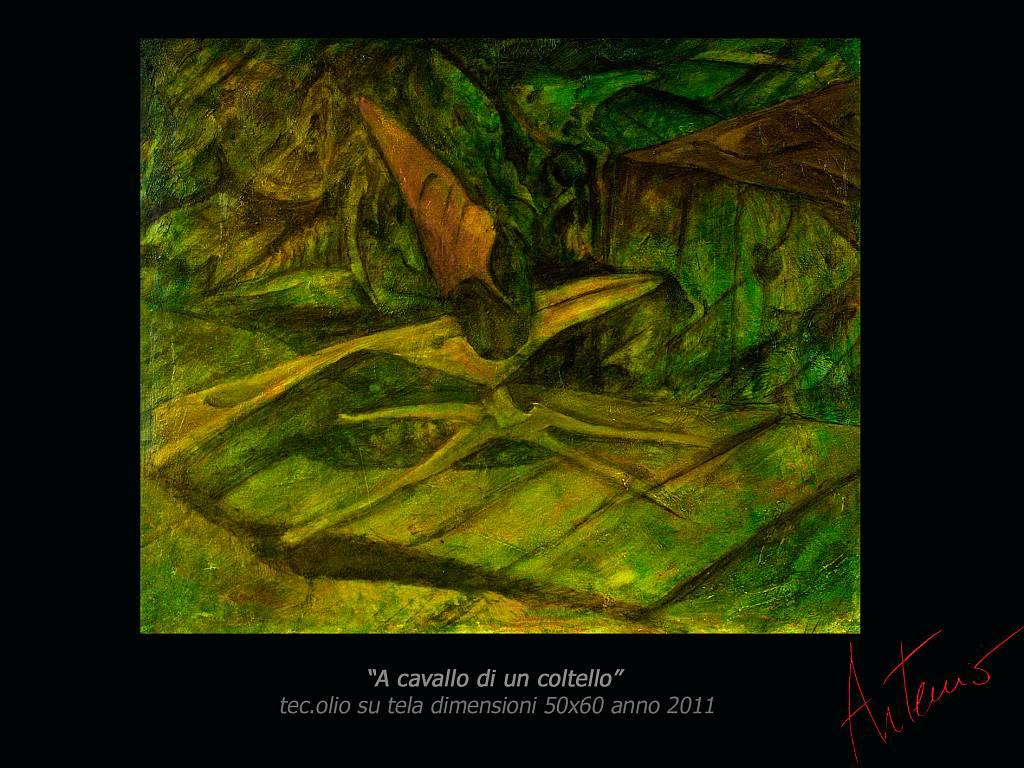 a cavallo di un coltello - Artemio Ceresa - Olio - 900 €
