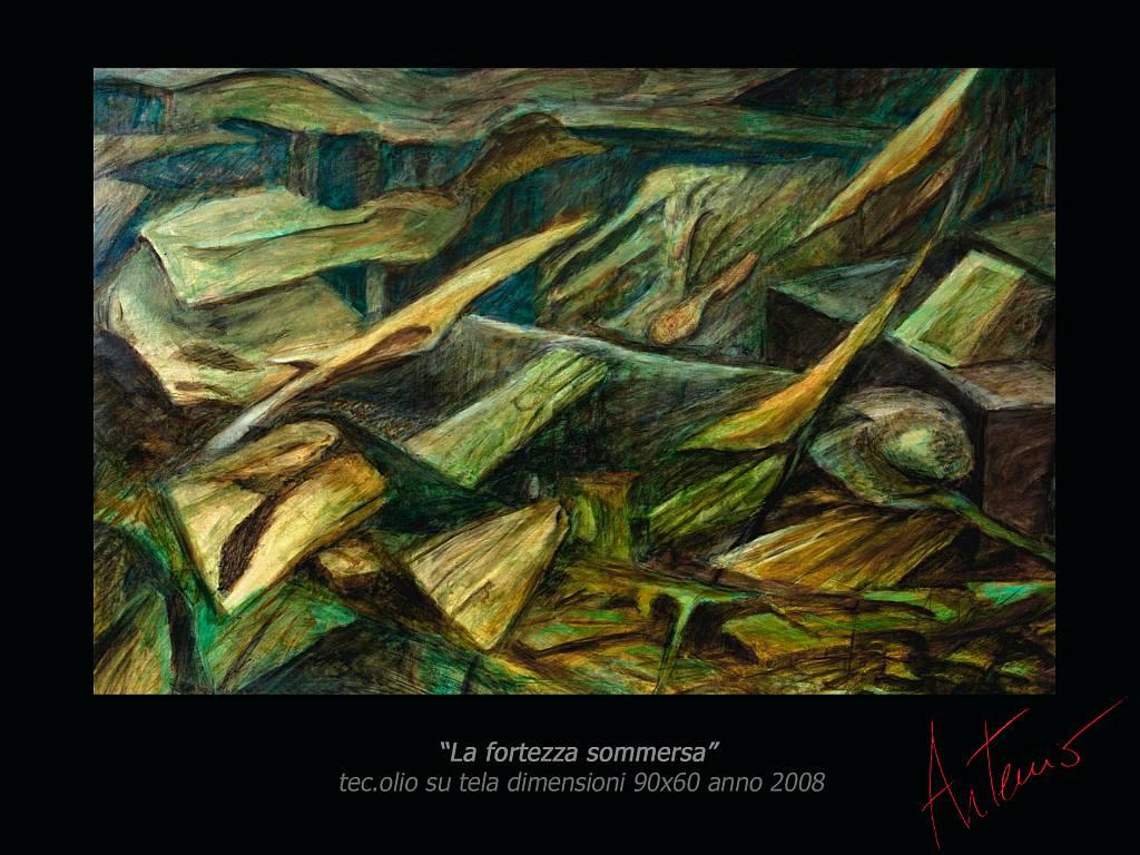 La fortezza sommersa - Artemio Ceresa - Olio - 1400 €