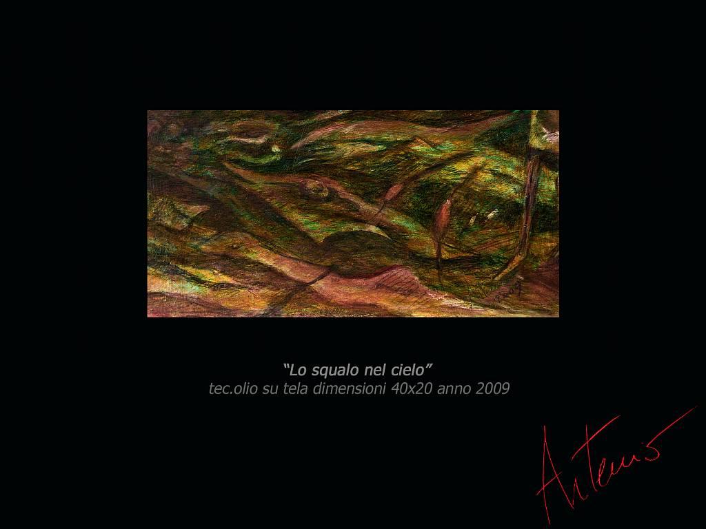 Lo squalo nel cielo - Artemio Ceresa - Olio - 280 €