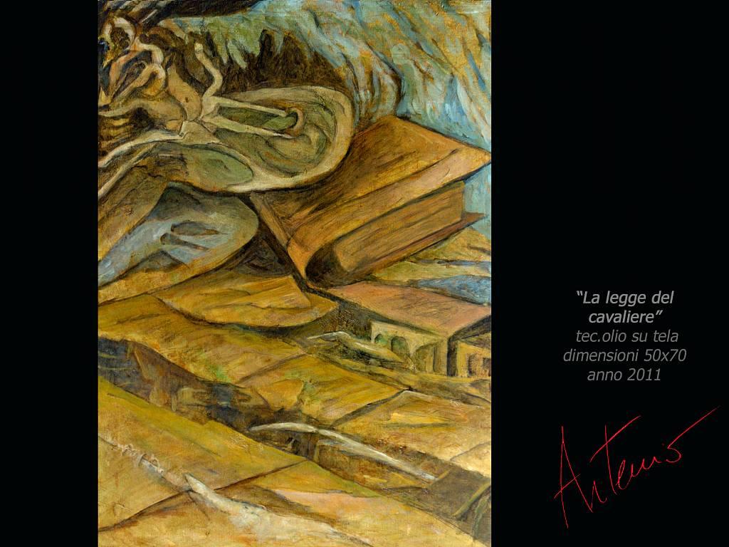 La legge del cavaliere - Artemio Ceresa - Olio - 1000 €