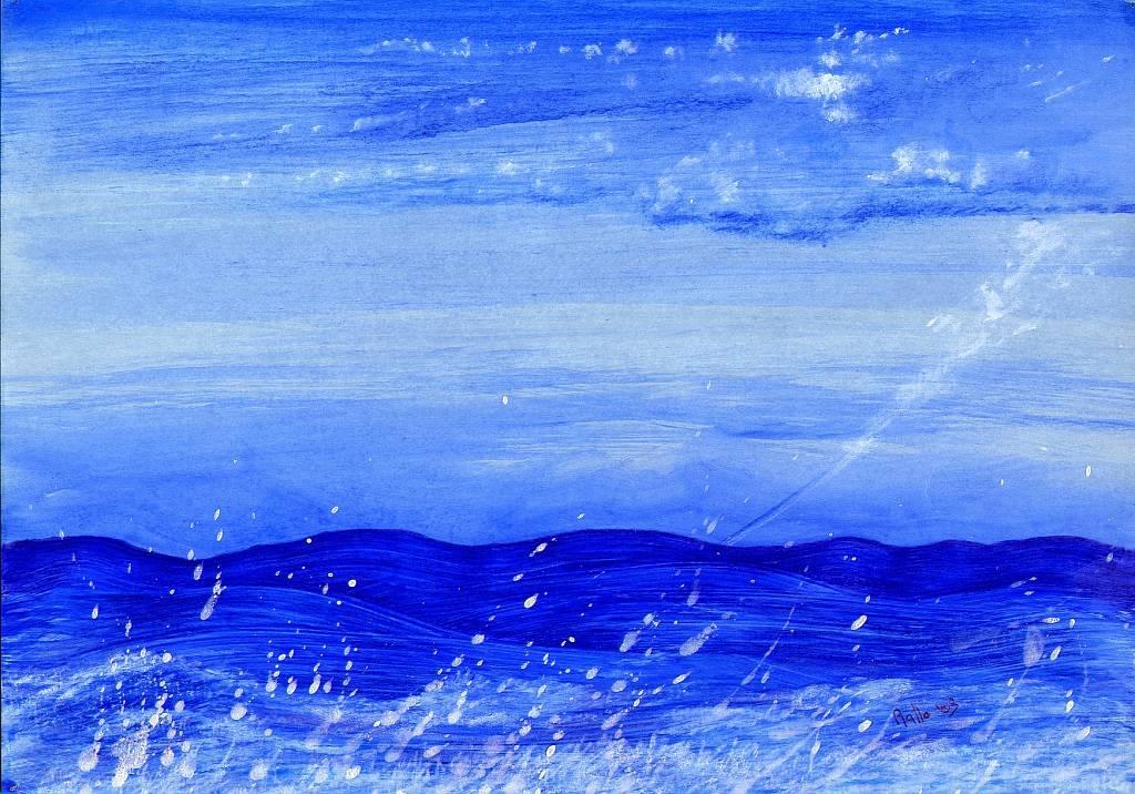 mare e cielo - daniele rallo - tecnica mista