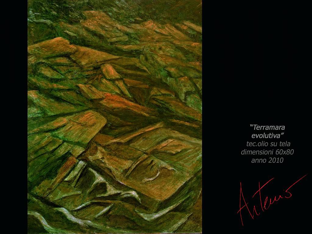 Terramara evolutiva - Artemio Ceresa - Olio - 1200 €