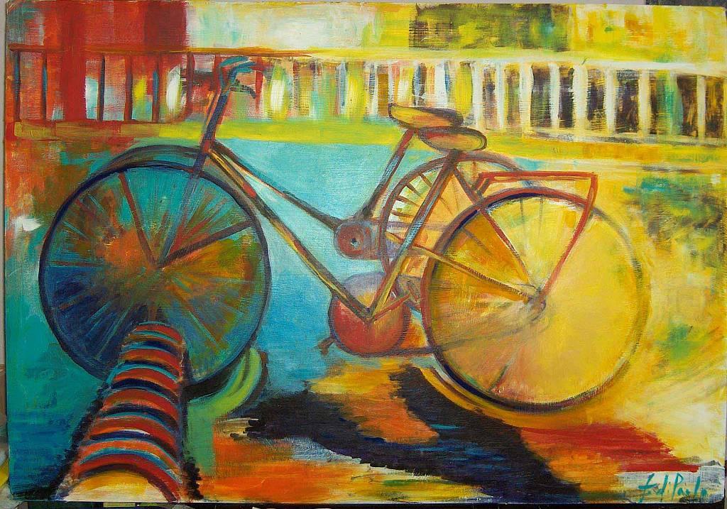 Quadro Con Bicicletta