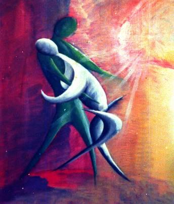 l'abbraccio - daniele Rallo  - Olio