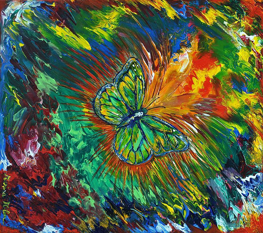 La farfalla - Marisa Milan - Acrilico