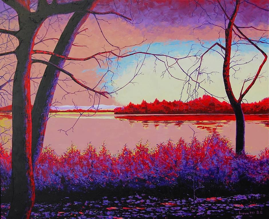 Il lago vendita quadro pittura artlynow