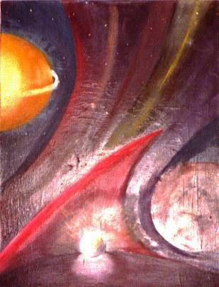 perla nell'universo - daniele rallo - Olio