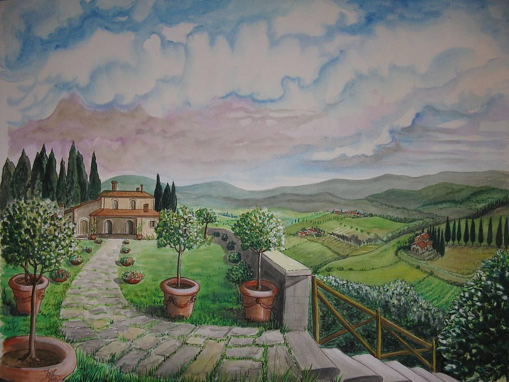 casolare in Toscana - silvia diana - Acquerello - 350 €