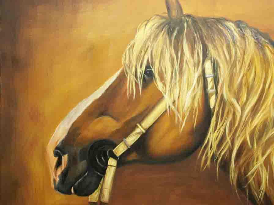 cavallo - rosalba busani - Olio