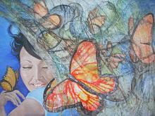 Fadwa delle farfalle - Daniela Lecchi - Tecnica mista